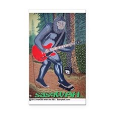 sasqWAH the Sasquatch Rectangle Car Magnet