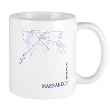 Marrakech geocode map (Blue) Mugs