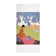 VOGUE - Woman Reading in the Shade Beach Towel