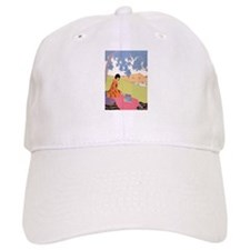 VOGUE - Woman Reading in the Shade Baseball Cap