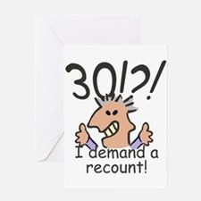 Recount 30th Birthday Greeting Cards