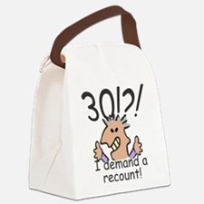 Recount 30th Birthday Canvas Lunch Bag