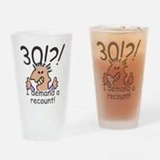 Recount 30th Birthday Drinking Glass
