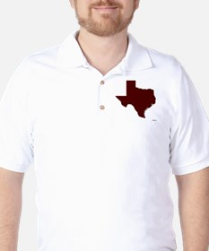 Maroon Texas Outline T-Shirt