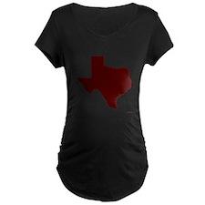 Maroon Texas Outline T-Shirt