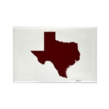 Maroon Texas Outline Rectangle Magnet
