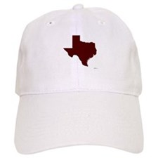 Maroon Texas Outline Baseball Cap