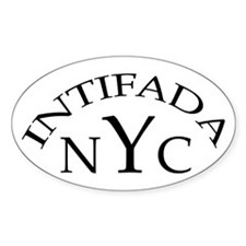 INTIFADA NYC Oval Decal