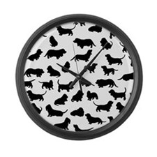 Basset Hounds Large Wall Clock