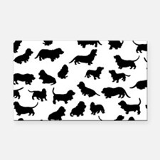 Basset Hounds Rectangle Car Magnet