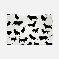 Basset Hounds Rectangle Magnet (100 pack)