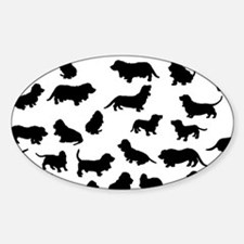 Basset Hounds Sticker (Oval)