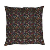 Black background Woven Pillows