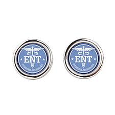 Cad ENT (rd) Round Cufflinks