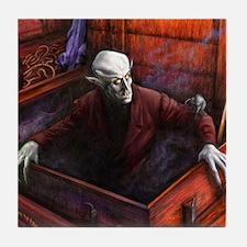 Dracula Nosferatu Vampire Tile Coaster