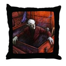 Dracula Nosferatu Vampire Throw Pillow