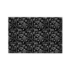 Cute Doodle Hearts Pattern Backgr Rectangle Magnet