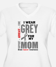 I Wear Grey For My Mom (Brain Cancer Awareness) Pl