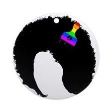 vintage afro peace Ornament (Round)