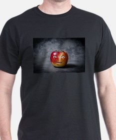 creepy red apple smile face T-Shirt