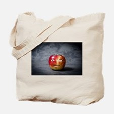 creepy apple face Tote Bag