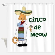Cinco de Meow Shower Curtain