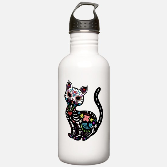 Dia de los Gatos Water Bottle