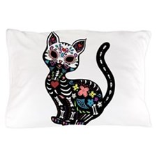 Dia de los Gatos Pillow Case