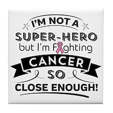 Breast Cancer Super-Hero Tile Coaster