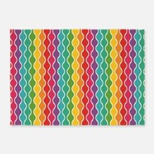 Cheerful Rippling Rainbow 5'x7'Area Rug