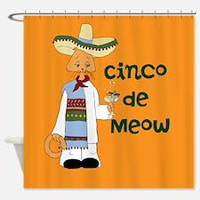 Cinco de Meow Shower Curtain