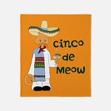 Cinco de Meow Throw Blanket