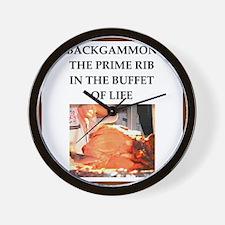 backgammon Wall Clock