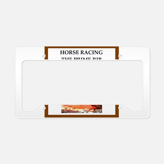 horse racing License Plate Holder