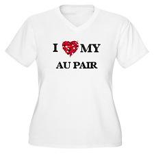 I love my Au Pair hearts design Plus Size T-Shirt