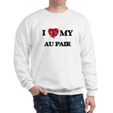 I love my Au Pair hearts design Sweatshirt