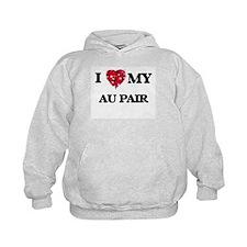 I love my Au Pair hearts design Hoodie
