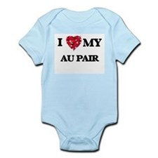 I love my Au Pair hearts design Body Suit