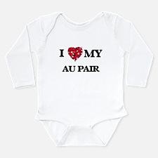I love my Au Pair hearts design Body Suit