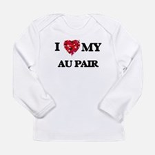 I love my Au Pair hearts desig Long Sleeve T-Shirt