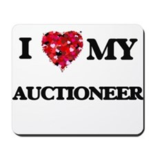 I love my Auctioneer hearts design Mousepad