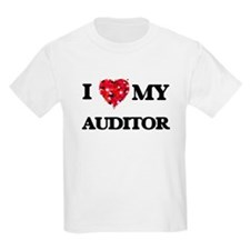 I love my Auditor hearts design T-Shirt