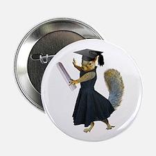 "Girl Squirrel Grad 2.25"" Button (10 pack)"