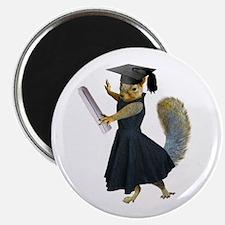 "Girl Squirrel Grad 2.25"" Magnet (10 pack)"