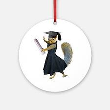 Girl Squirrel Grad Ornament (Round)
