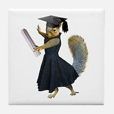 Girl Squirrel Grad Tile Coaster