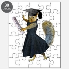 Girl Squirrel Grad Puzzle