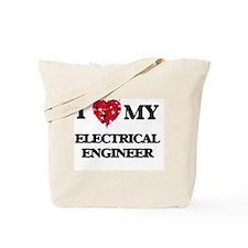 I love my Electrical Engineer hearts desi Tote Bag