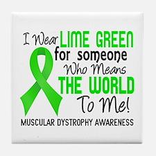 Muscular Dystrophy MeansWorldToMe2 Tile Coaster