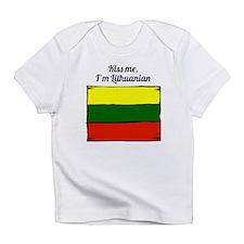 Kiss Me Im Lithuanian Infant T-Shirt